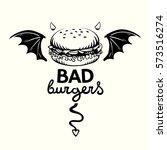 graphic illustration of evil... | Shutterstock .eps vector #573516274