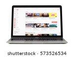 riga  latvia   february 06 ... | Shutterstock . vector #573526534