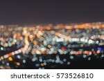blurred focus of big city in... | Shutterstock . vector #573526810