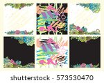 vector floral set. colorful... | Shutterstock .eps vector #573530470