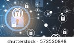 technology security concept.... | Shutterstock .eps vector #573530848