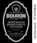 typeface. label. bourbon... | Shutterstock .eps vector #573534856