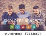 employee benefits icon concept | Shutterstock . vector #573536674