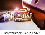 suggest word  text with... | Shutterstock . vector #573542374
