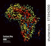 africa. continent map abstract... | Shutterstock .eps vector #573542500