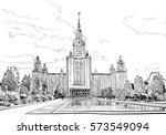 russia. moscow state university ... | Shutterstock .eps vector #573549094