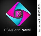 letter b logo symbol in the... | Shutterstock . vector #573551326