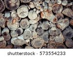 Wood Texture.pile Of Cut Timbe...
