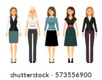 beautiful women in different... | Shutterstock .eps vector #573556900
