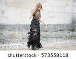 paris march 8  2016. famous... | Shutterstock . vector #573558118