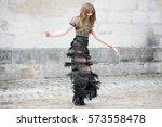 paris march 8  2016. famous... | Shutterstock . vector #573558478