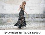 paris march 8  2016. famous... | Shutterstock . vector #573558490