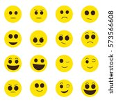 emoticons   face expressions  ...   Shutterstock .eps vector #573566608