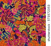 tracery seamless calming... | Shutterstock .eps vector #573572353