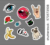 punk style chik quirky colorful ... | Shutterstock .eps vector #573573508