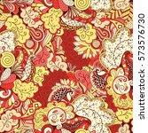tracery seamless calming...   Shutterstock .eps vector #573576730