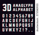 stereoscopic distortion  3d... | Shutterstock .eps vector #573580933