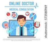 online doctor  internet... | Shutterstock .eps vector #573580969