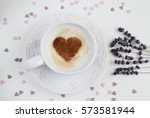 Cappuccino Coffee With Heart...