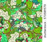 tracery seamless calming... | Shutterstock .eps vector #573589570