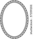 vector  oval frame on white... | Shutterstock .eps vector #57359203