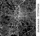 atlanta vector map  artprint.... | Shutterstock .eps vector #573596416
