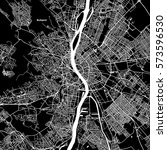 budapest vector map  artprint.... | Shutterstock .eps vector #573596530