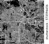 los angeles vector map ... | Shutterstock .eps vector #573596656