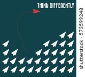 think differently   being... | Shutterstock .eps vector #573599248