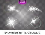 glow light effect. star burst...   Shutterstock .eps vector #573600373