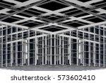 metal framework of modern... | Shutterstock . vector #573602410