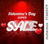 valentines day sale....   Shutterstock .eps vector #573605479