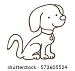 book coloring puppy for kids   Shutterstock .eps vector #573605524