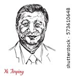xi jinping  general secretary... | Shutterstock .eps vector #573610648