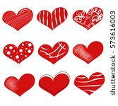 heart. valentine's day posters... | Shutterstock .eps vector #573616003