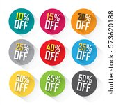 colorful discount bubble set... | Shutterstock .eps vector #573620188