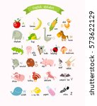 vector english alphabet with... | Shutterstock .eps vector #573622129