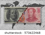 usa versus china  economic war... | Shutterstock . vector #573622468