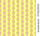 floral pattern with abstract...   Shutterstock . vector #573623524