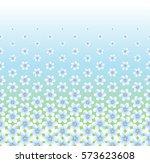 floral pattern  horizontal ... | Shutterstock .eps vector #573623608