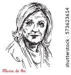 marine le pen  french...   Shutterstock .eps vector #573623614