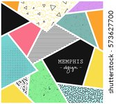 trendy geometric elements... | Shutterstock .eps vector #573627700