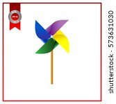 toy wind mill  weather vane  ... | Shutterstock .eps vector #573631030