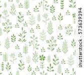 green herbs seamless pattern....   Shutterstock .eps vector #573639394