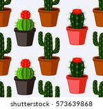 cactus seamless pattern. | Shutterstock .eps vector #573639868