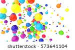 glossy colored balls background ...   Shutterstock . vector #573641104