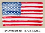 watercolor usa flag.grunge flag ... | Shutterstock .eps vector #573642268