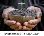 two hands of the men was... | Shutterstock . vector #573642334