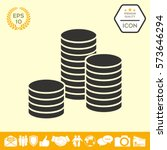 stack of coins icon | Shutterstock .eps vector #573646294