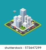 isometric urban city | Shutterstock . vector #573647299